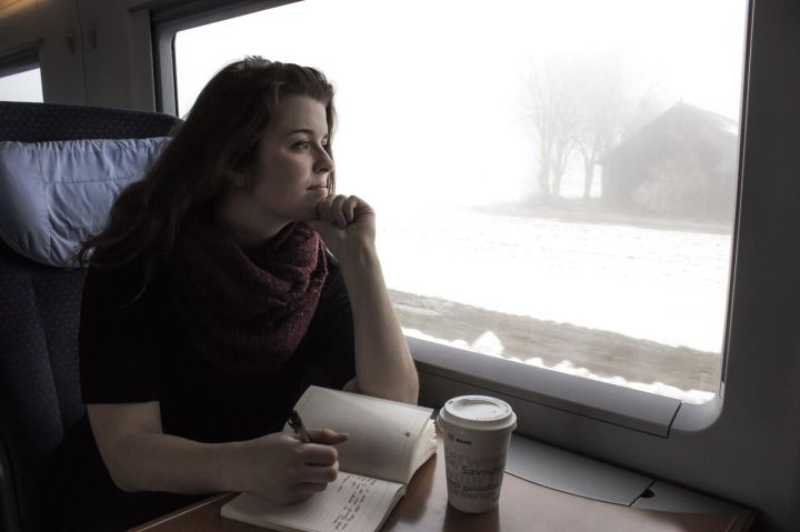 writing while commuting
